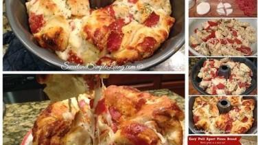 Kek Kalıbında 10 Dakikada Pizza Yapılışı