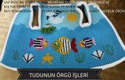 Tunus İşi Balıklı Bebek Yelek Yapılışı