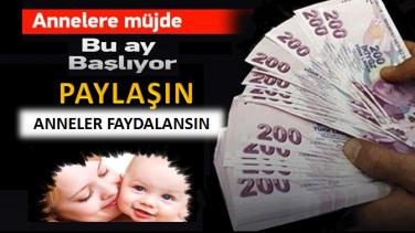 Annelere Çocuk Parası Bağlanacak
