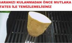 Patates İle Temizlenmeyen Izgaralar Tehlike Saçıyor