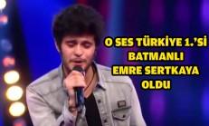 O Ses Türkiye 1.'si Emre Sertkaya Oldu