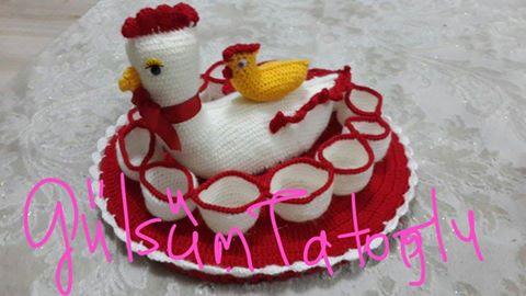 Yumurtalı Tavuk Nasıl Örülür Resimli ANlatım