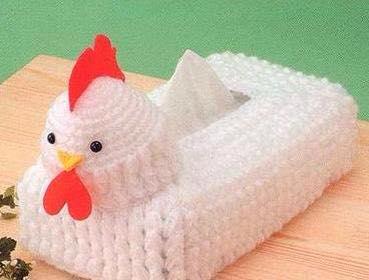 Örgü Tavuk Peçetelik