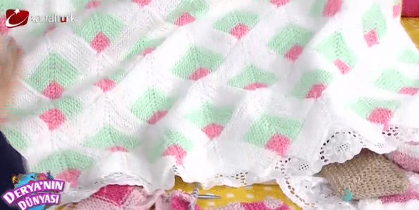 Derya Baykal Boyutlu Battaniye Yapılışı 29-01-2015
