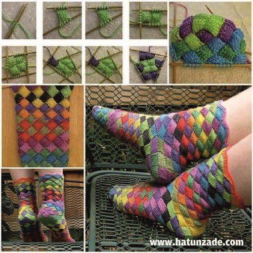Entrelak Örgüsü Çorap Nasıl Yapılır?
