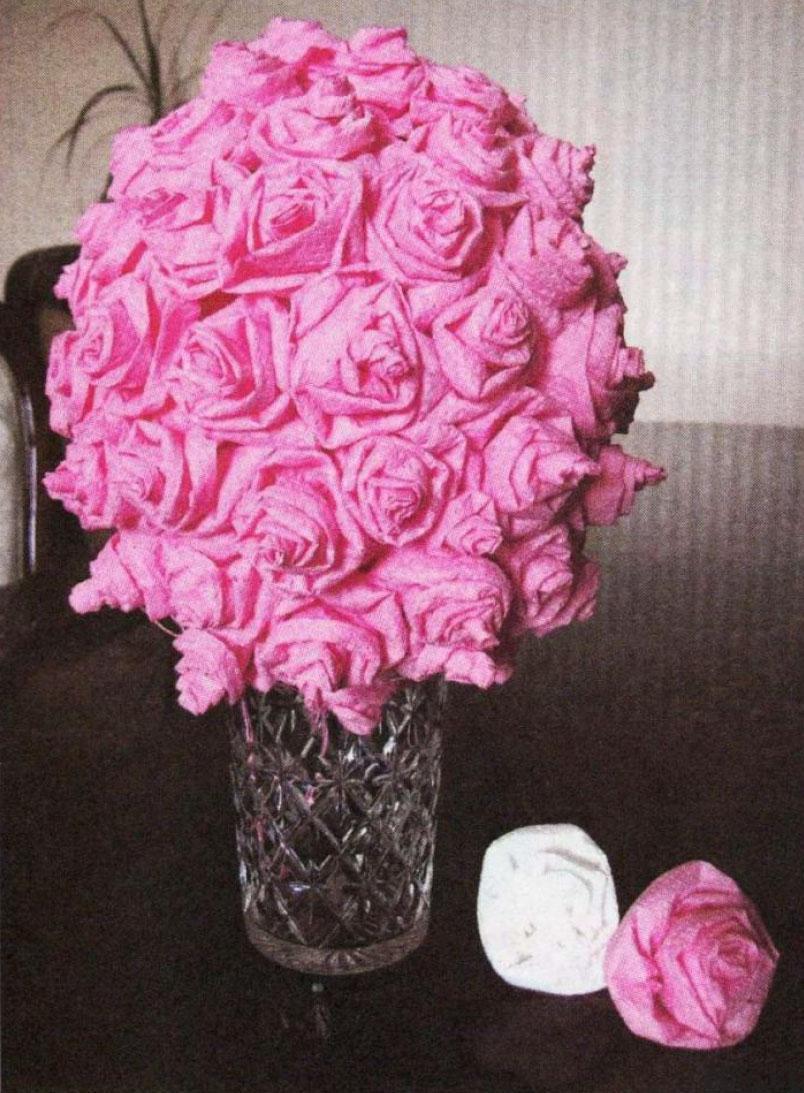 Tuvalet Kağıdından Çiçek Yapılışı