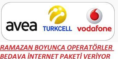Ramazan Kampanyası Operatörler Bedava İnternet Paketi Veriyor
