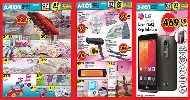 07 - 09 Ocak Hafta Kampanyası ürünleri A-101