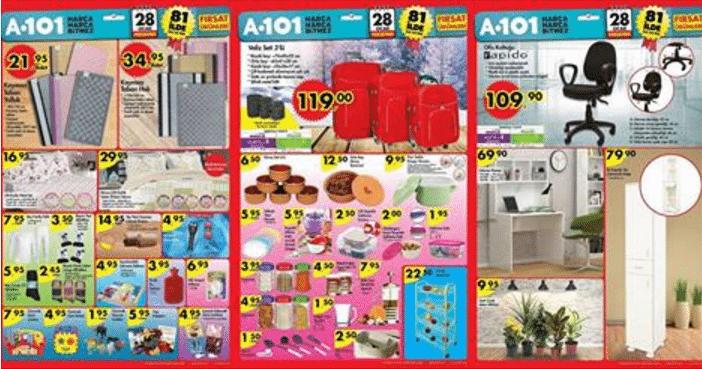 A-101 28 Ocak Perşembe Kampanyalı Ürünler