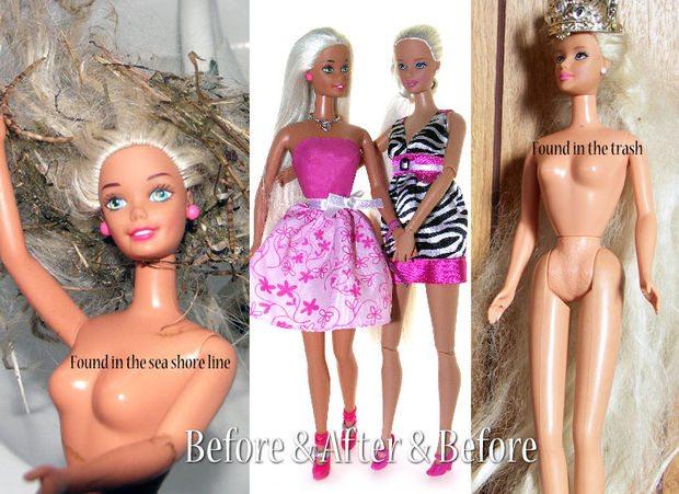 Keçeleşen Barbie Saçlarını 2 Dakikada Düzeltin