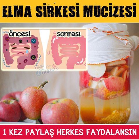 Elma Sirkesi ile Bağırsakları Temizleyin...