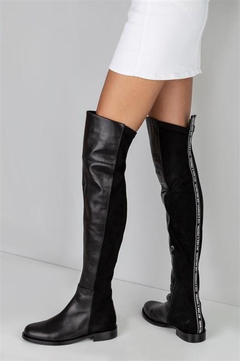 Bayan Deri Çizme Modelleri