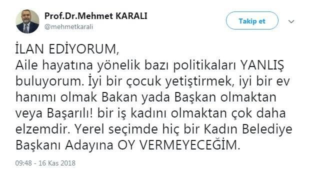 """Dekan'dan Skandal Açıklama """"Kadın Adaylara Oy Yok"""""""