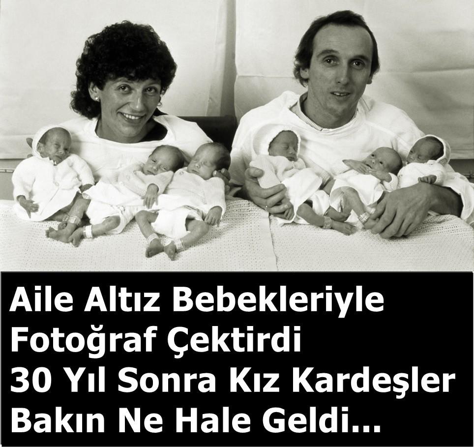 Altız bebekleri ile Fotoğraf çektirdiler 30 yıl sonra