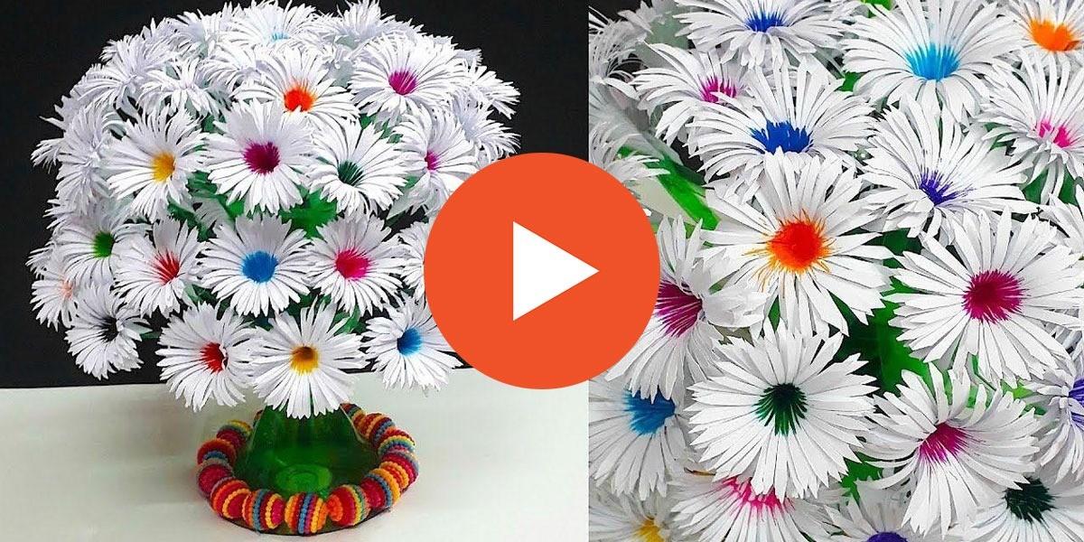 Kağıttan Çiçek Buket'i Yapılışı