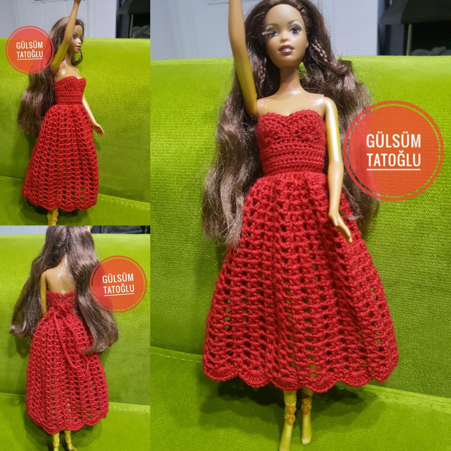 BARBİE BEBEKLER İÇİN ÖRGÜDEN KOLAY ELBİSE YAPIMI #barbie, #barbiedresses, #barbibebekelbisesi