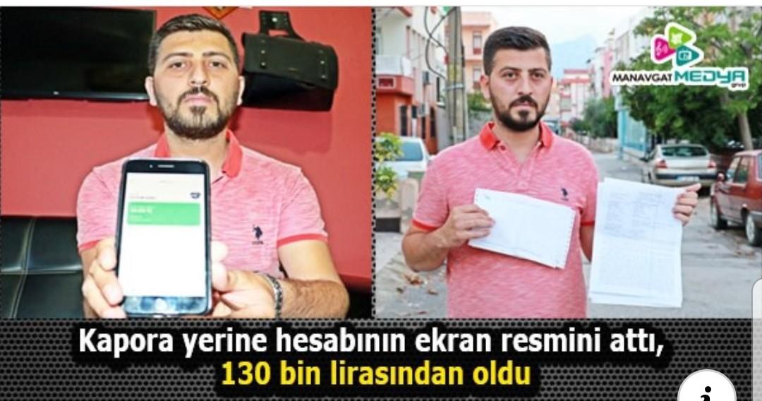 Kapora Yerine Ekran resmi Etti 130 bin Lirasından Oldu
