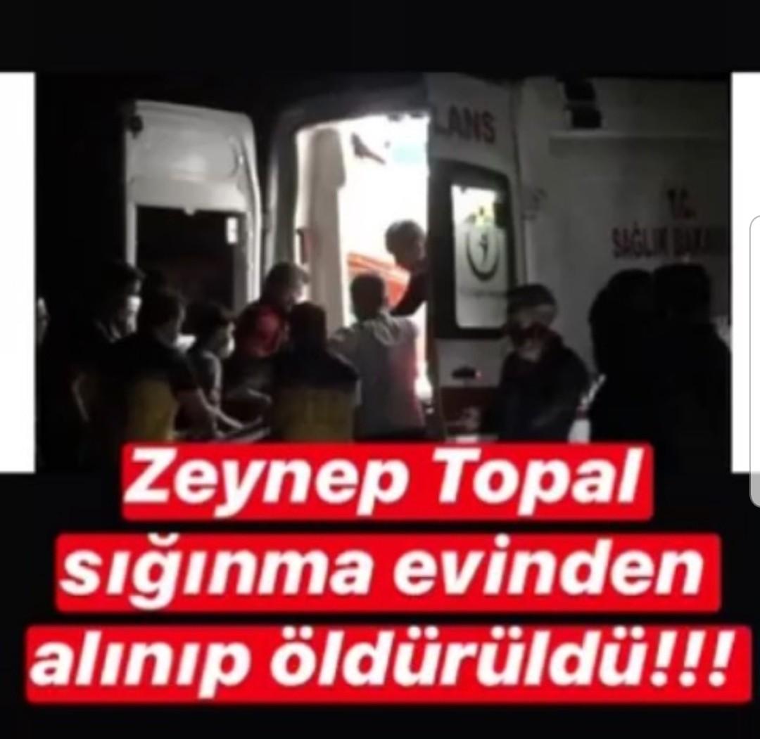 ZEYNEP TOPAL SIGINMA EVINDEN ALINDI