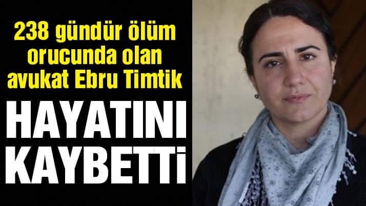 Avukat Ebru Timtik Hayatını Kaybetti