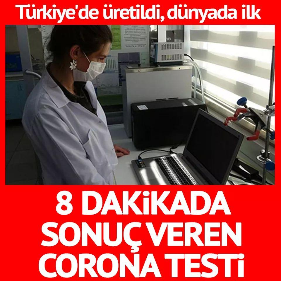 8 Dakikada Sonuç Veren Test