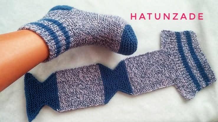 Örmesi Çok Kolay Giymesi Rahat Çorap Modeli