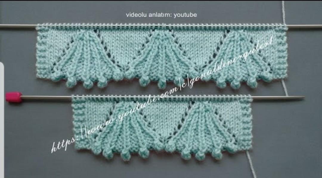 Tomurcuklu Superge Örneği Corchet Knitting
