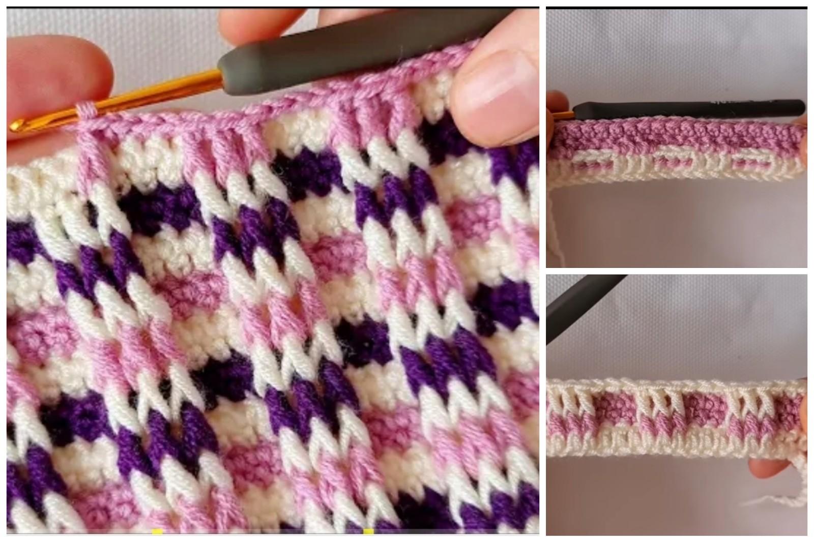 Renkli Battaniye Crochet Örneği