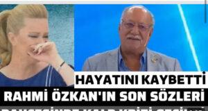 Özkan'dan Üzen Haber